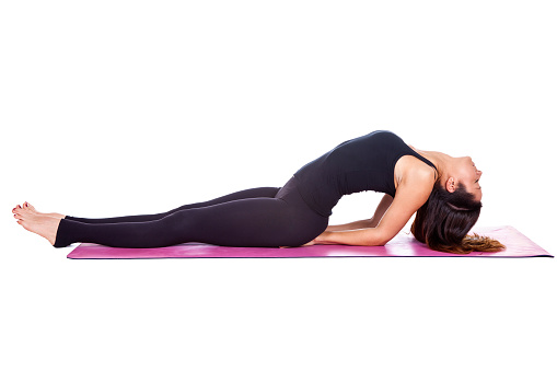fish pose yoga for period pains