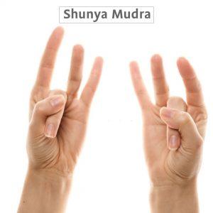 Shunya Mudra with images